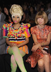 Nicki Minaj continues to show up to the shows looking like a Raggedy Ann Doll on crack.