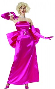 This pink satin dress and the white halter that will fly off the racks.