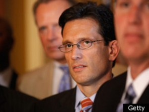 Eric Cantor looks a bit gay if you ask me. Like a  Log Cabin Queen.