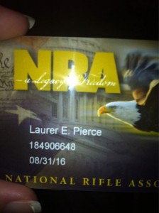 Little Miss Lauren Pierce is a card carrying member of the NRA.