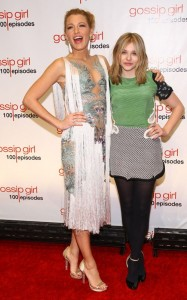 At the Gossip Girl 100th episode party, Blake Lively wore this Marchesa thing that look eerily like the Fall '10 Couture Givenchy and Chloe Moretz wore this. Yikes.