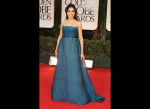 Freida Pinto wnet from the regal beauty to this wide ill fitting arm fat person thing.