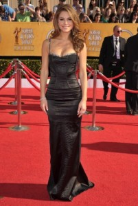 Maria Menounos boght her dress at Frederick's of Hollywood.