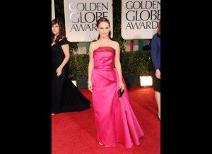 Way too much fabric and its wrinkled. Natalie Portman went from Black Swan to pink