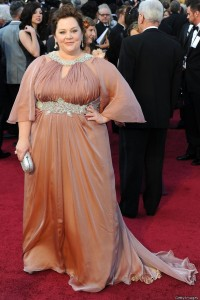 Melissa McCarthy must hired Octavia Spencer's stylist. This dress managed to eat the actress that eats a lot.