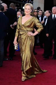 Great speech, but this Lanvin dress is ltoo robe-like.