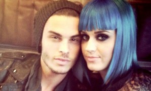 Katy & Baptiste are a cute couple but the blue hair during poontang? Um...