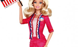 Excuse me, not two minutes after I create the I Mean What Party to Re-Elect Barack Obama...Barbie gets into the act?