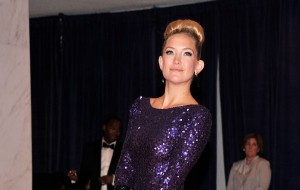 Wht's with the pregnant bagel on Kate Hudson's head?