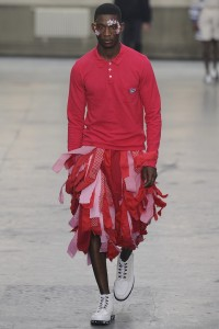 I'd opt for the red and pink skirt personally. Come on, it's everything.