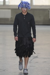 Christopher Shannon takes the man skirt to the next level.