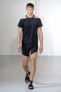 Thierry Mugler would trun in his grave if he were dead. And this is one way to kill off a brand. What is this even? It's half short, half T-shirt, all nonsense.