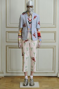 Thom Browne never disappoints. Here is his homage to Elsa Schiaparelli, that or he just had a case of crabs and was inspired.