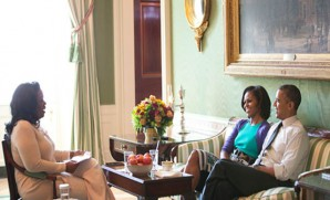 Oprah sits down with Barack & Michelle Obama. The reunion tour.