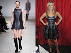 Clearly this look suits Manzies AND Jennifer Aniston like nobodies busiess. Or, shall I say, neither Manzies or Jennifer Aniston have no business wearing this shit.