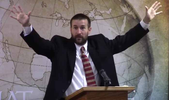 A very gay looking Pastor Steven Anderson has probably licked someone's balls at some point.