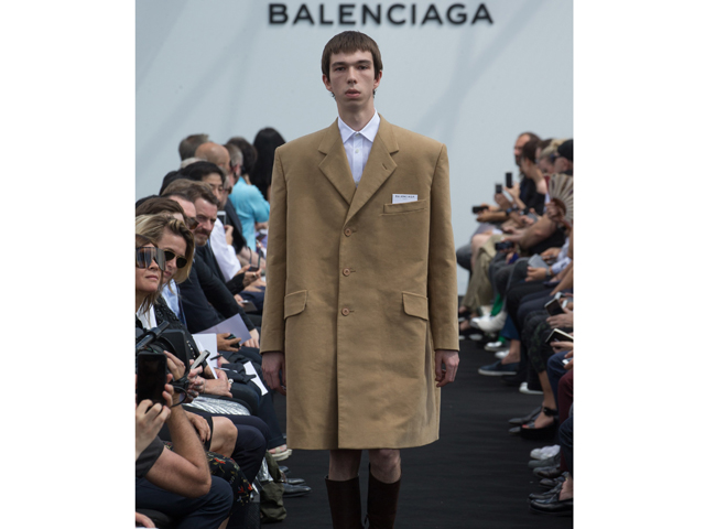 Balenciaga proves that even your fat clothes can still work when paired with knickers and knee high boots.