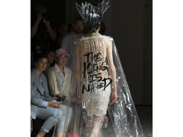 Comme Des Garcons captures the essence of today's Manzie Report. So then, Long Live The Queen who would wear this.