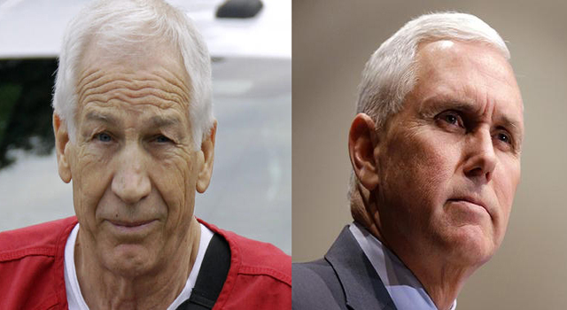 Jerry Sandusky (Left) - Mike Pence (Alt Right)