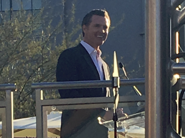 Gavin Newsom spoke of Pluralism, a system where different people coexist.